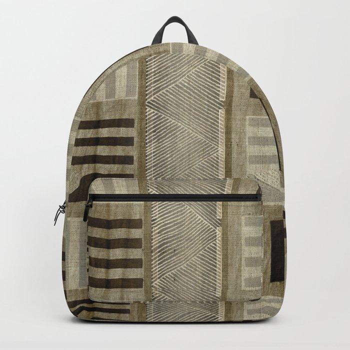 """Ethnic Pattern Natural Color"" Backpack"