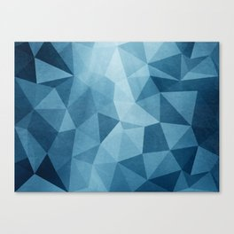 Blue Poly Canvas Print