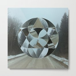 Geometric Road Metal Print