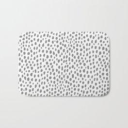 Gray Dalmatian Spots (gray/white) Bath Mat
