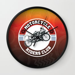 Motorcycle Riders Club Wall Clock