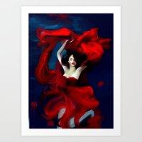 valentines Art Prints featuring Valentines by Yannomi