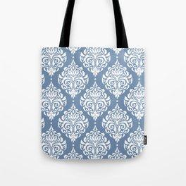 Sky Blue Damask Tote Bag