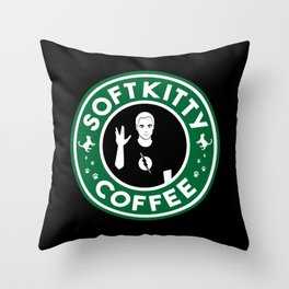 Soft Kitty Coffee Throw Pillow