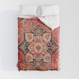 Heriz Azerbaijan Northwest Persian Rug Print Duvet Cover