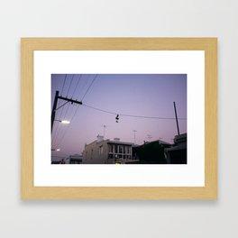Fitzroy Dusk Framed Art Print