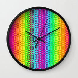 Hippy Rainbow Heaven Wall Clock