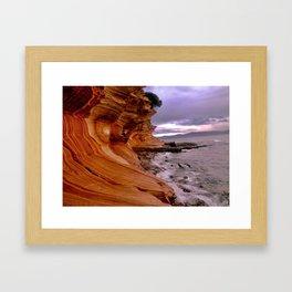 Painted Cliffs Framed Art Print
