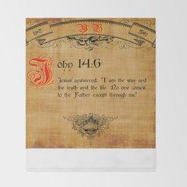Bible Verse John 14:6 Throw Blanket