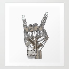 Mech-Rock Art Print