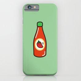Cute yummy hot sauce iPhone Case