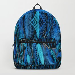 Night Grass Woven Abstract by Amanda Laurel Atkins Backpack