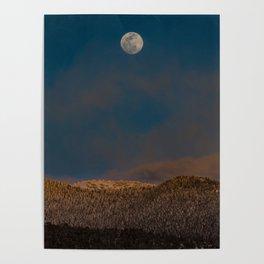 Colorado Moonrise Poster