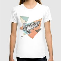mcfly T-shirts featuring Owl McFly by carographic by carographic watercolor portraits