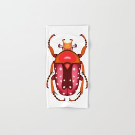 Orange and Red Beetle Hand & Bath Towel