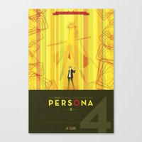 persona Canvas Prints featuring Persona 4 by Phil Giarrusso