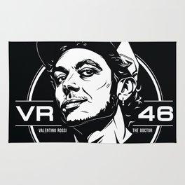 Valentino Rossi Emblem (Black & White) Rug