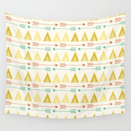 Tent and arrow Wall Tapestry