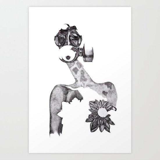 Anabelle (B&W) Art Print