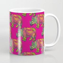 RHINO on Pink Coffee Mug