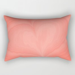 Living Coral Heart Love Marble Cute Pattern St Valentine's Day Color of year 2019 Fine Fractal Art Rectangular Pillow
