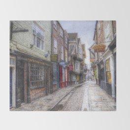 The Shambles York Art Throw Blanket