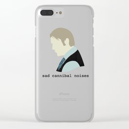 Sad Cannibal Noises Clear iPhone Case