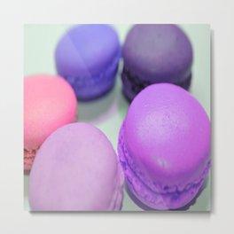 macaroons pink purple peach Metal Print