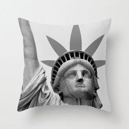 Liberty of Weed Throw Pillow
