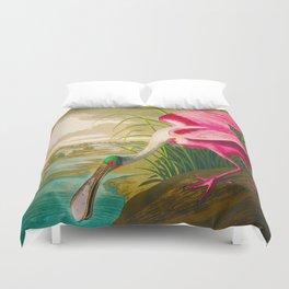 Roseate Spoonbill Bird pink Duvet Cover
