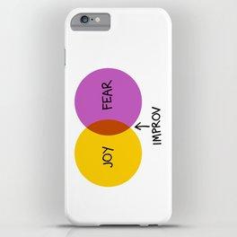 The Venn of Improv (Yellow/Violet) iPhone Case