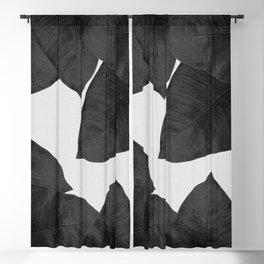 Banana Leaf Black & White II Blackout Curtain