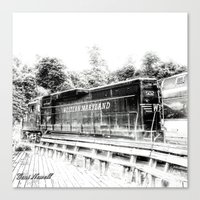 train Canvas Prints featuring Train by Geni