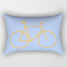 colorful bicycle illustration Rectangular Pillow