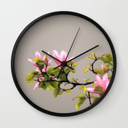 Magnolia Branch Wall Clock