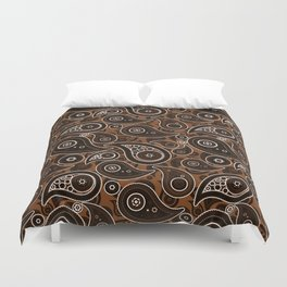 Chocolate Brown Paisley Pattern Duvet Cover