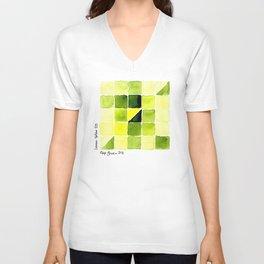 Color Chart - Lemon Yellow (DS) and Sap Green (DS) Unisex V-Neck