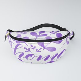 Watercolor home foliage - purple Fanny Pack