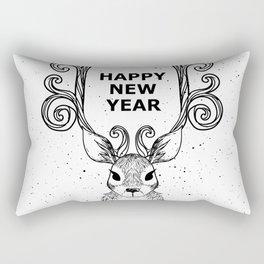 New Year's Eve Deer Christmas Holiday Rectangular Pillow