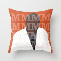 pushing daisies Throw Pillows featuring Pushing Daisies - Coroner by MacGuffin Designs