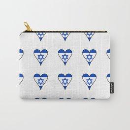 flag of israel 6-יִשְׂרָאֵל ,israeli,Herzl,Jerusalem,Hebrew,Judaism,jew,David,Salomon. Carry-All Pouch