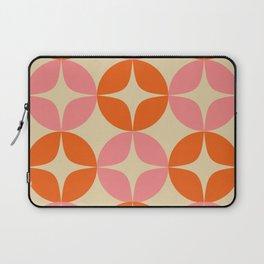 Mid Century Modern Pattern in Pink and Orange Laptop Sleeve