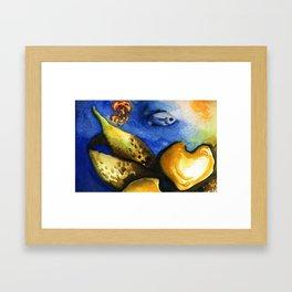 Underwater WaterColor Framed Art Print