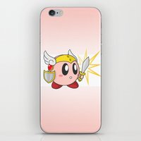 kirby iPhone & iPod Skins featuring Valkyrie Kirby by Mel W.