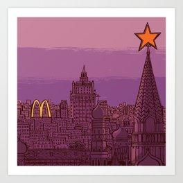 Fast Food Moscow (January 31, 1990) Art Print