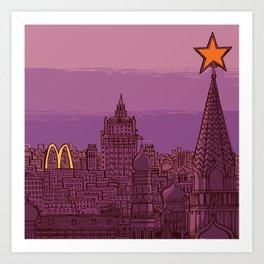 Fast Food Moscow (January 31, 1990) Art Print