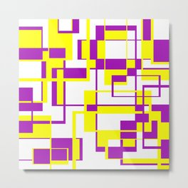 Purple and Yellow Bricks Metal Print