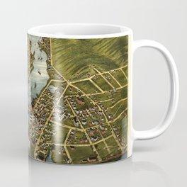 View of Mystic River & Mystic Bridge, Connecticut (1879) Coffee Mug