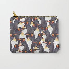 King Penguins Watercolour repeat Pattern Carry-All Pouch
