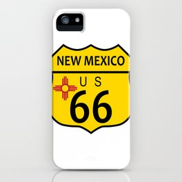 Route 66 New Mexico Flag iPhone Case